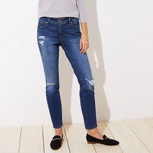 LOFT Destructed Modern Skinny Jeans